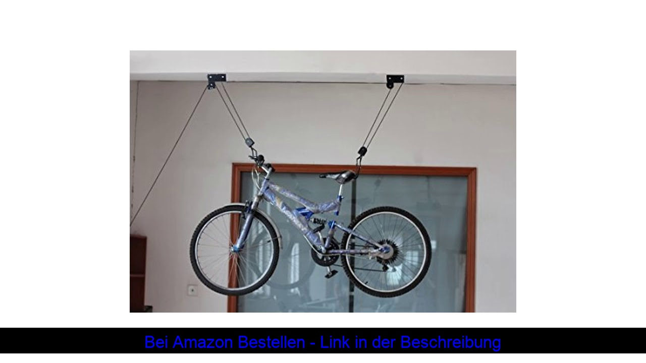 ▶️ P4B   Fahrrad BIKE LIFT XXL STRONG   Zur Deckenmontage   Hebelast bis 57 kg   Leichtgängiger Sei