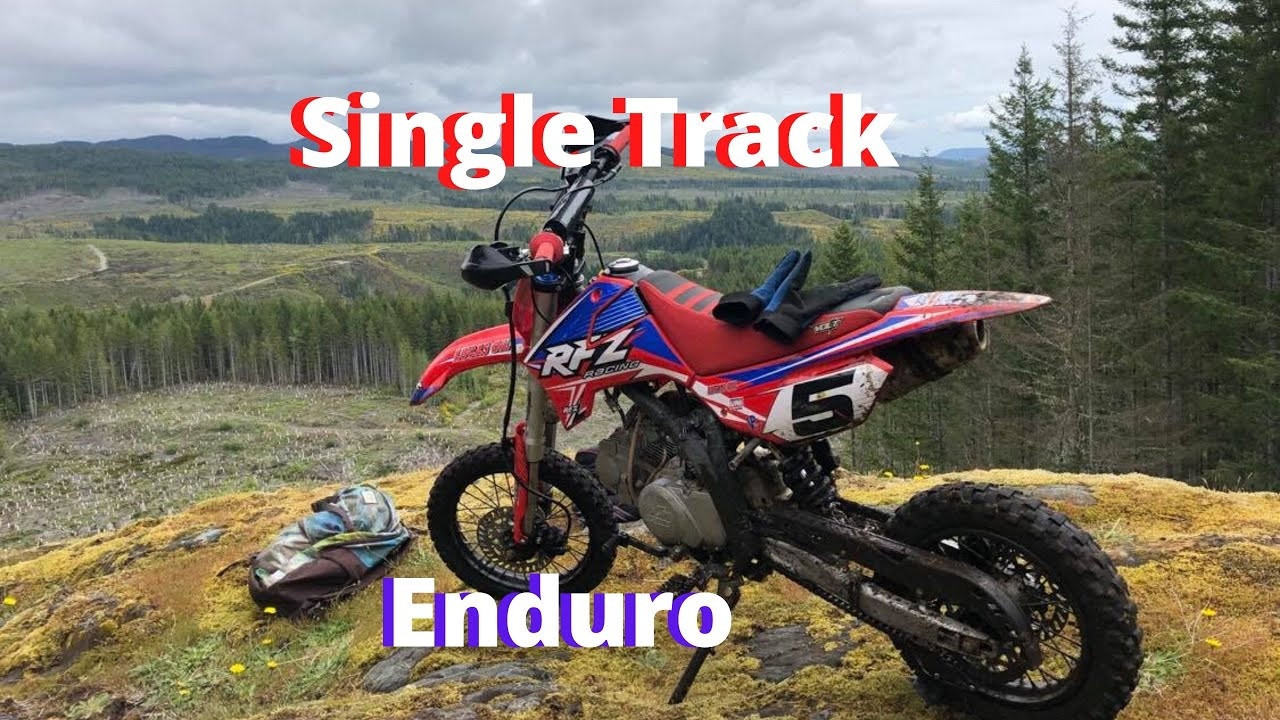 Pit Bike Single Track Enduro Riding! | Apollo RFZ 125cc