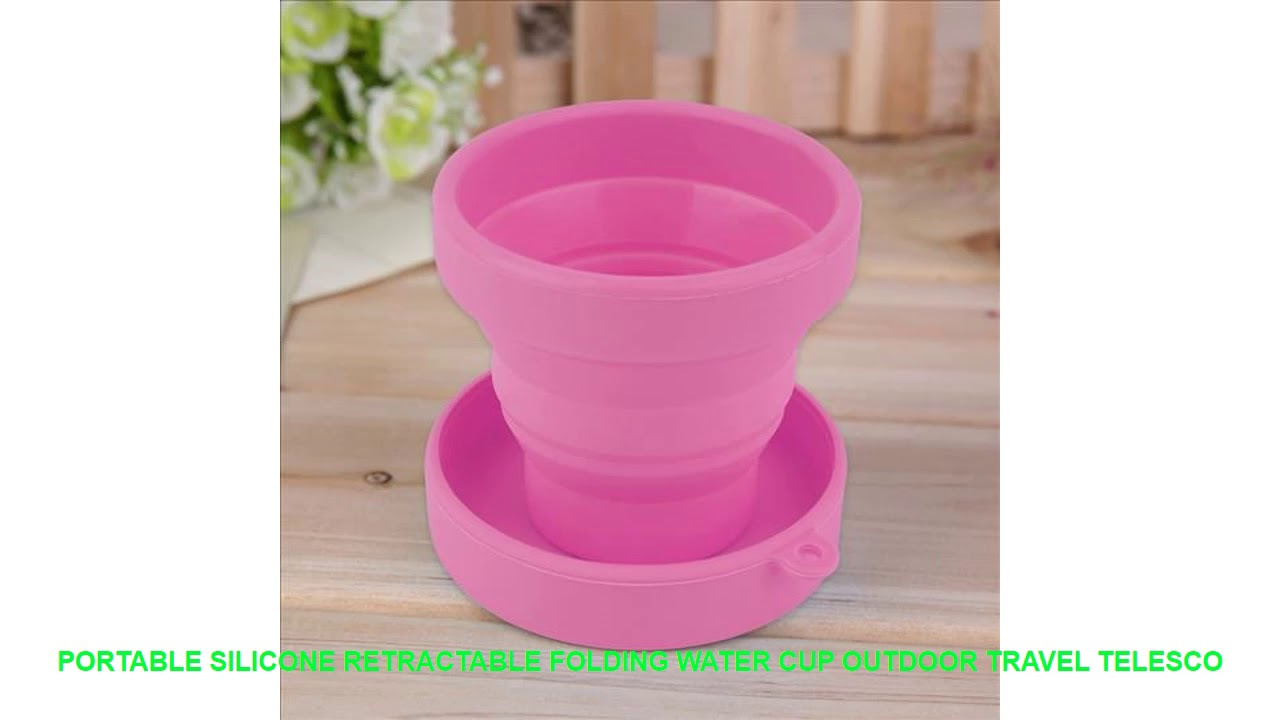 Portable Silicone Retractable Folding Water Cup Outdoor Travel Telesco