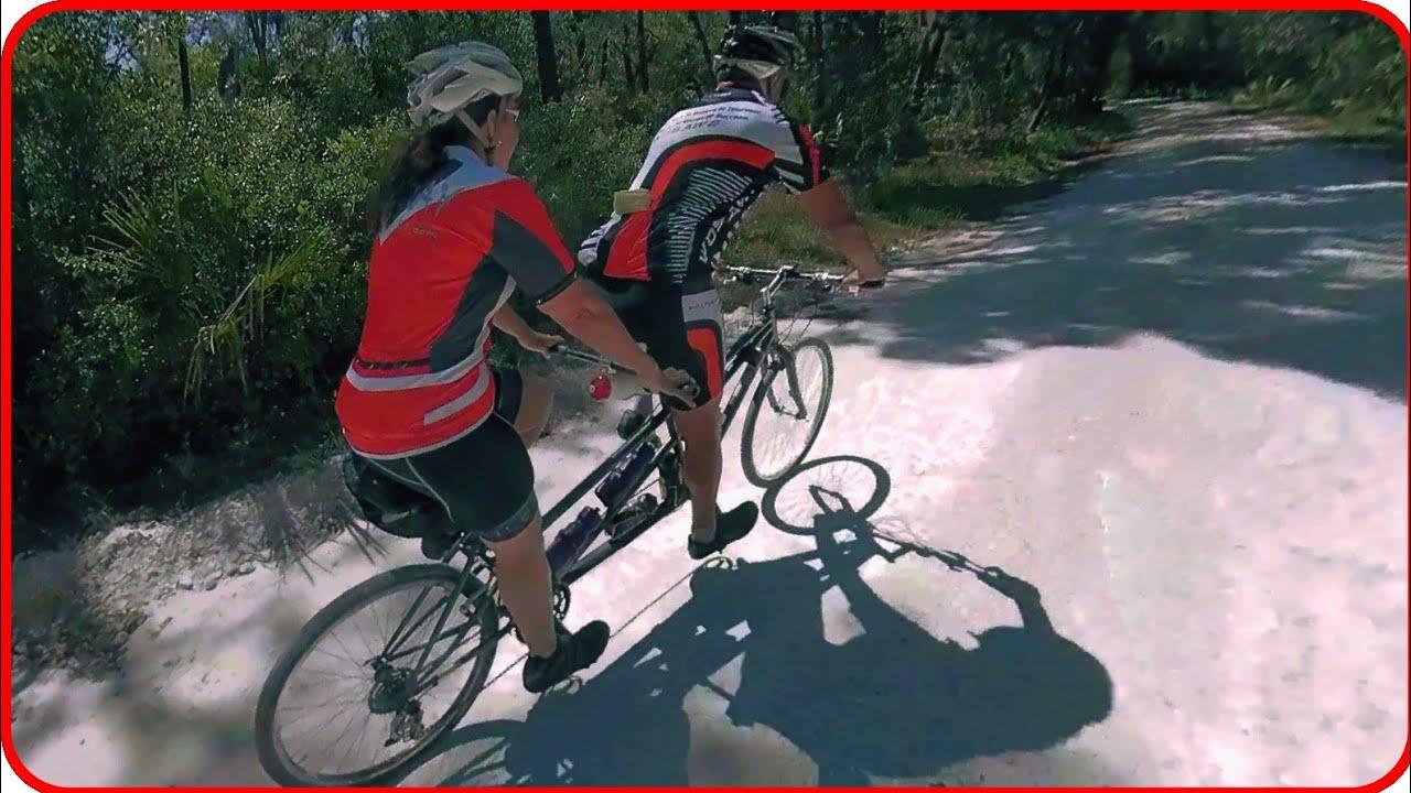 Tandem Mountain Biking: Riding Markham Woods Mountain Bike Trail on a Tandem Bike - Unedited Video