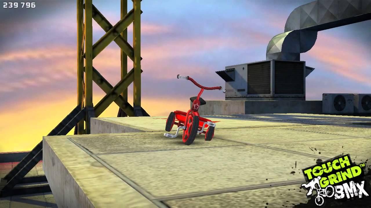 Touchgrind bmx skyline avec tricycle