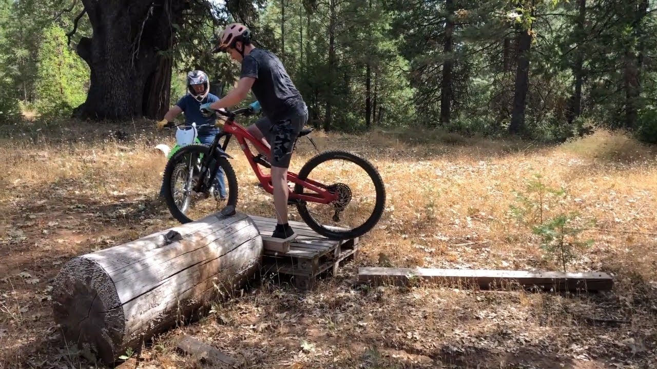 Trials Endurocross on a Mountain Bike? (Feat. Dennis the Menace riding)