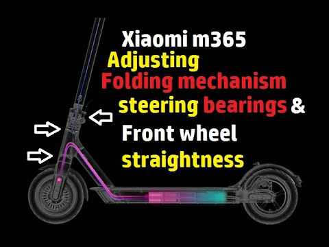 Xiaomi M365 Adjusting the folding mechanism and bearing tension