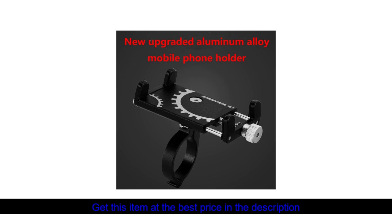 Aluminum Bicycle Phone Holder MTB Mountain Road Bike Motorcycle For 3.5-6.5 inch mobile support GP