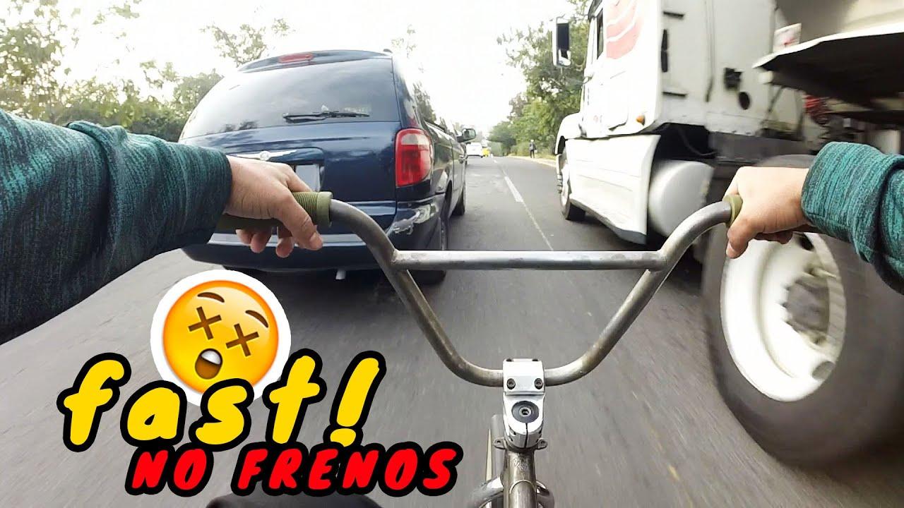 BAJADAS LOCAS EN BMX SIN FRENO 🚫 #3 A Toda Velocidad en Periférico