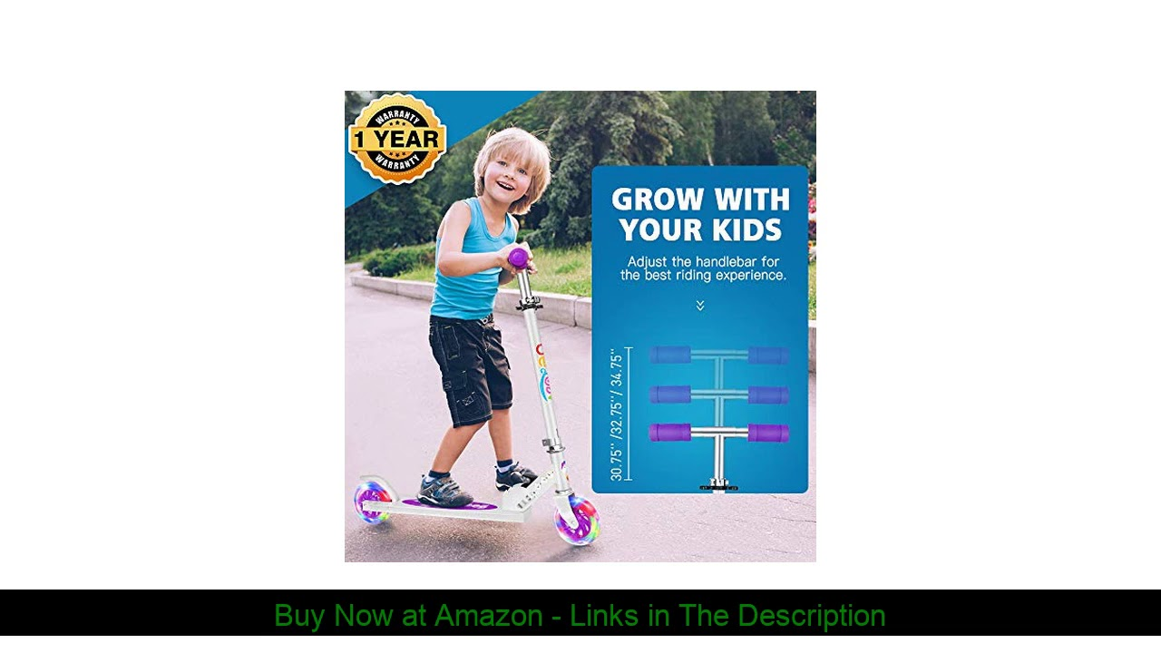 ☘️ BELEEV V1 Scooters for Kids 2 Wheel Folding Kick Scooter for Girls Boys, CSPC&ASTM Safety Certif