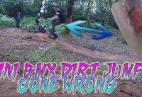 (GONE WRONG) MINI ROCKER BMX ON DIRT RAMPS | BMX Vlog #2