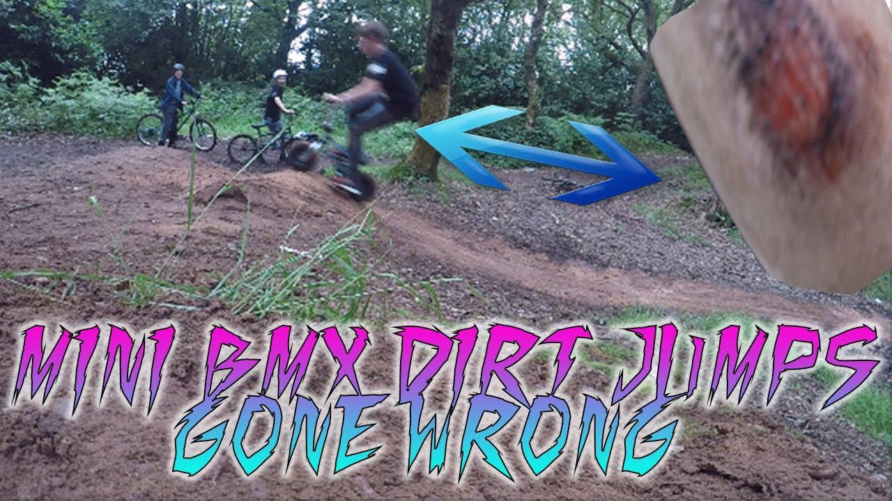 (GONE WRONG) MINI ROCKER BMX ON DIRT RAMPS   BMX Vlog #2