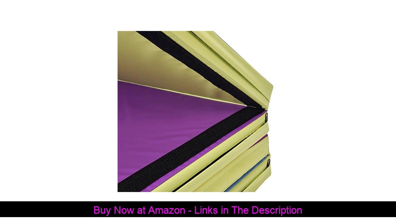 ☑️ Giantex 4'x10'x2 Gymnastics Mat Folding Panel Thick Gym Fitness Exercise (Multi-Colors)