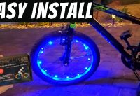 HOW TO INSTALL  LED BIKE LIGHTING - LED BIKE WHEEL LIGHTS - ACTIV LITES FROM ACTIV LIFE
