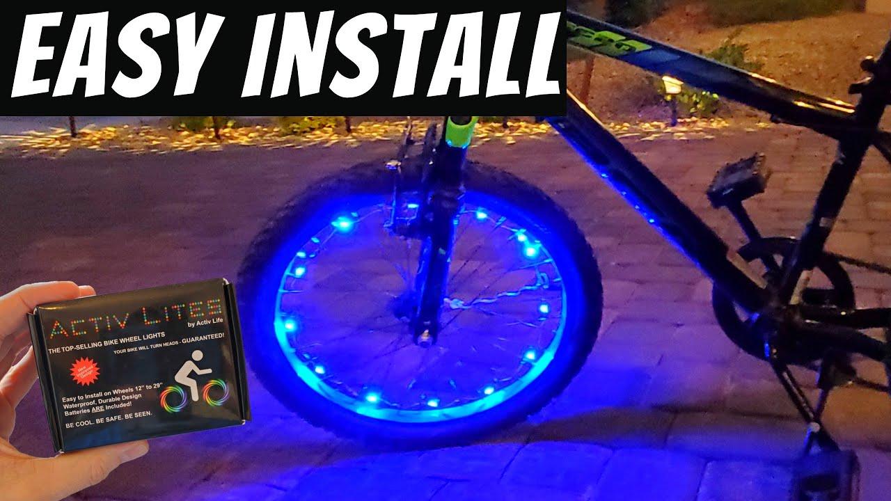 HOW TO INSTALL  LED BIKE LIGHTING - LED BIKE WHEEL LIGHTS - ACTIV LITES FROM ACTIV LIFE