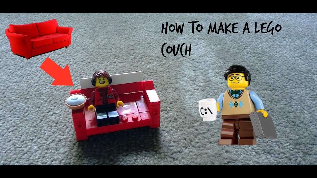 How to make a Lego Folding couch