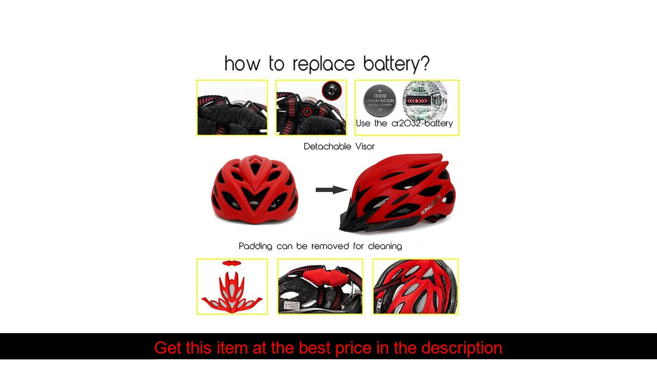 KINGBIKE Men Bicycle Helmet Ultralight Road MTB Mountain Bike Cycling Helmet With Back Light casco