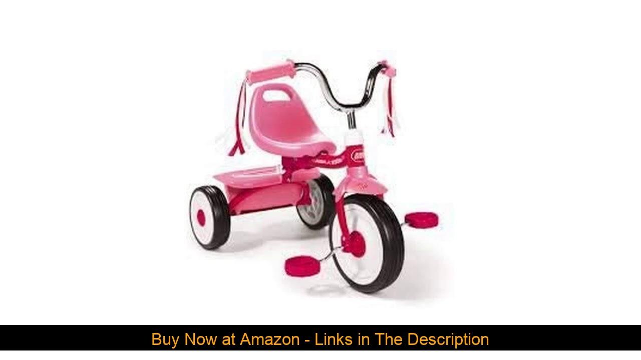☑️ Radio Flyer Folding Trike, Pink (Pink)