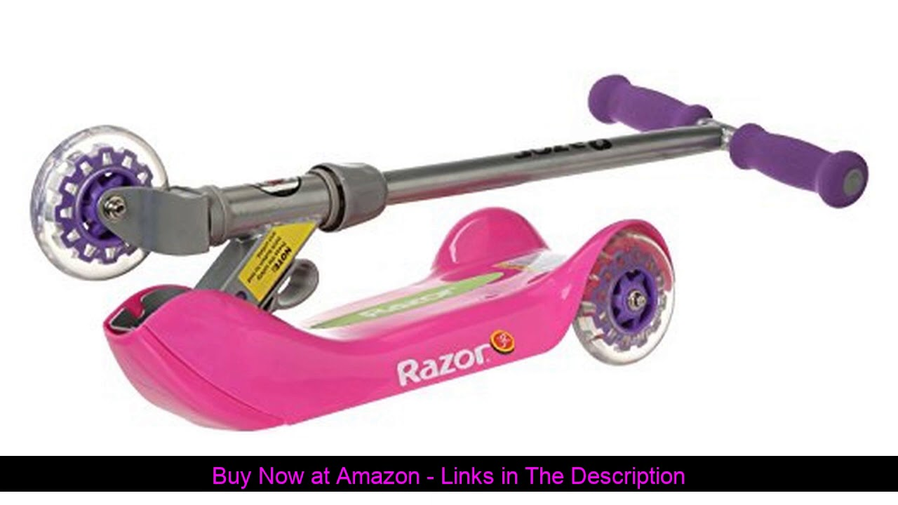 ☀️ Razor Jr. Folding Kiddie Kick Scooter - Pink