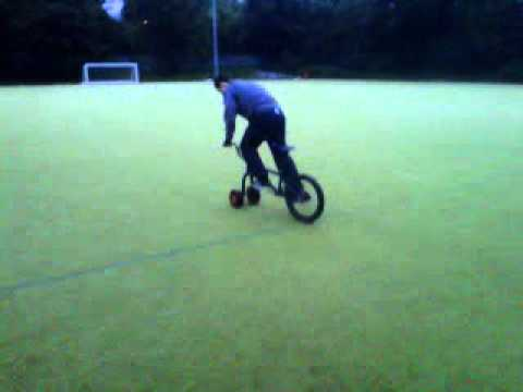 Two front wheels on a bmx