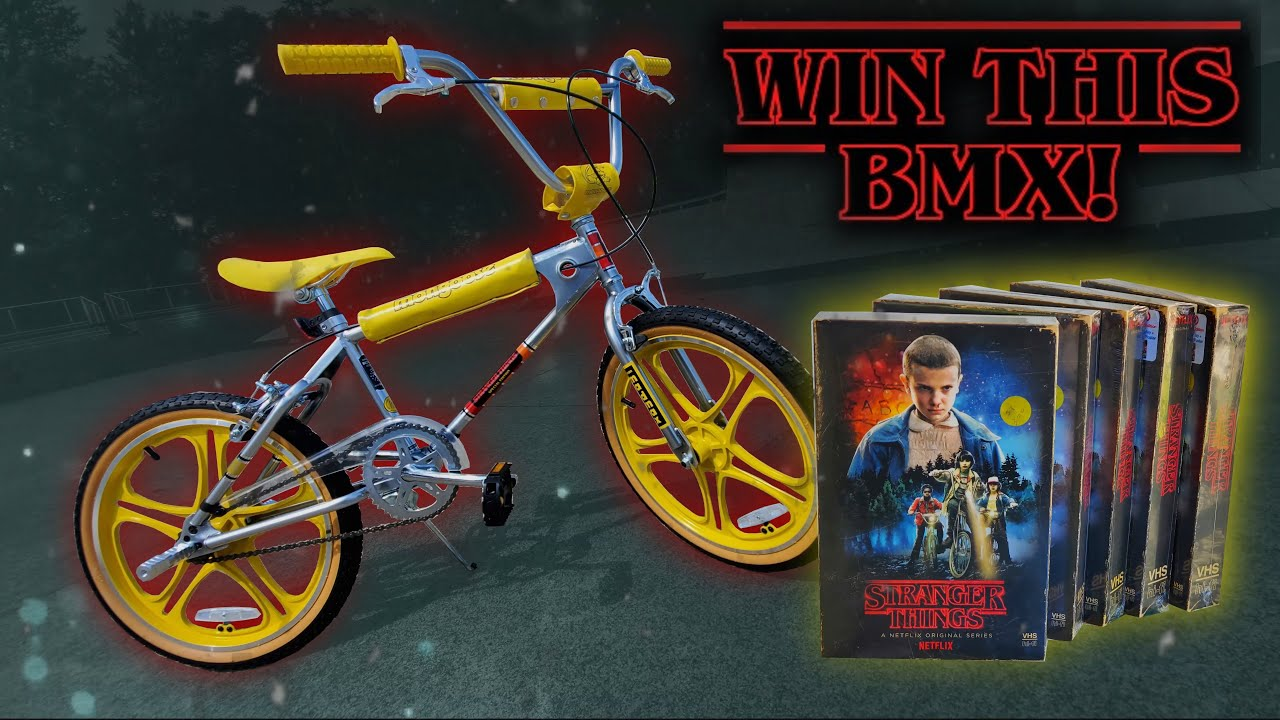 WIN THIS MONGOOSE BMX / STRANGER THINGS DVD BLURAY SET !!
