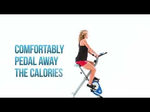 XTERRA Fitness FB150 Folding Exercise Bike, Silver   Sports & Outdoors