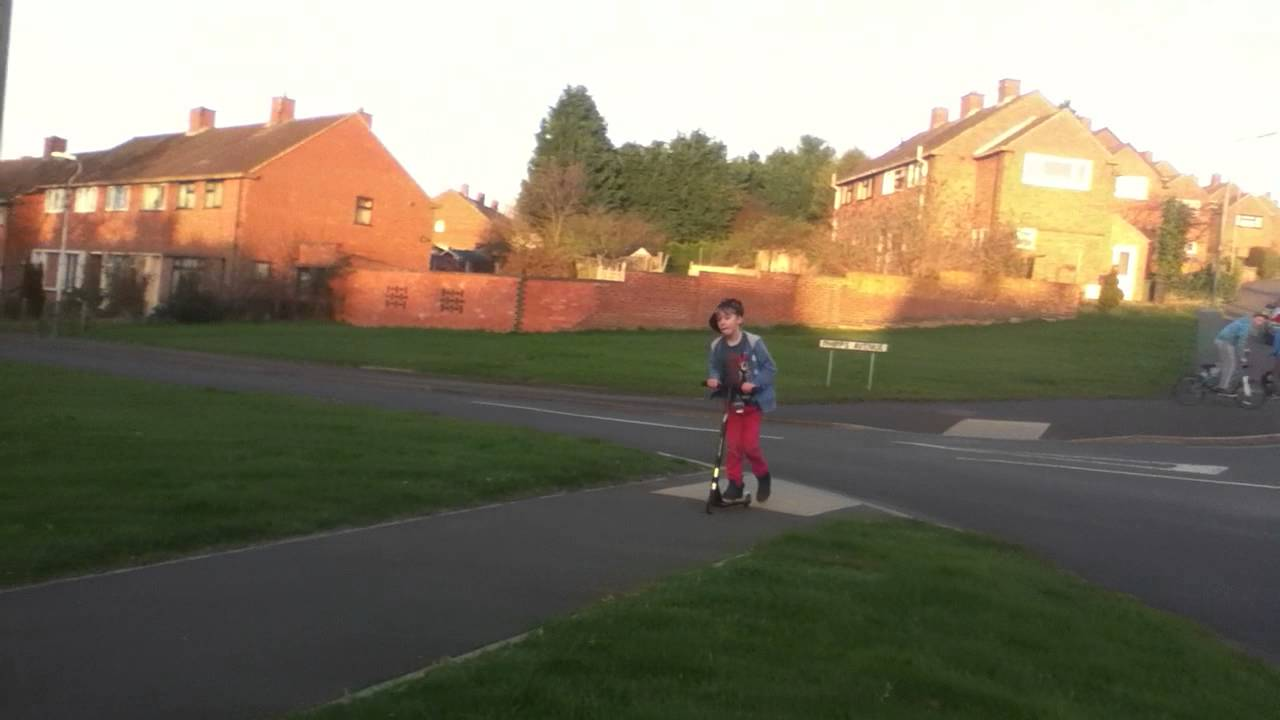 scooter and bmx on mini ramps