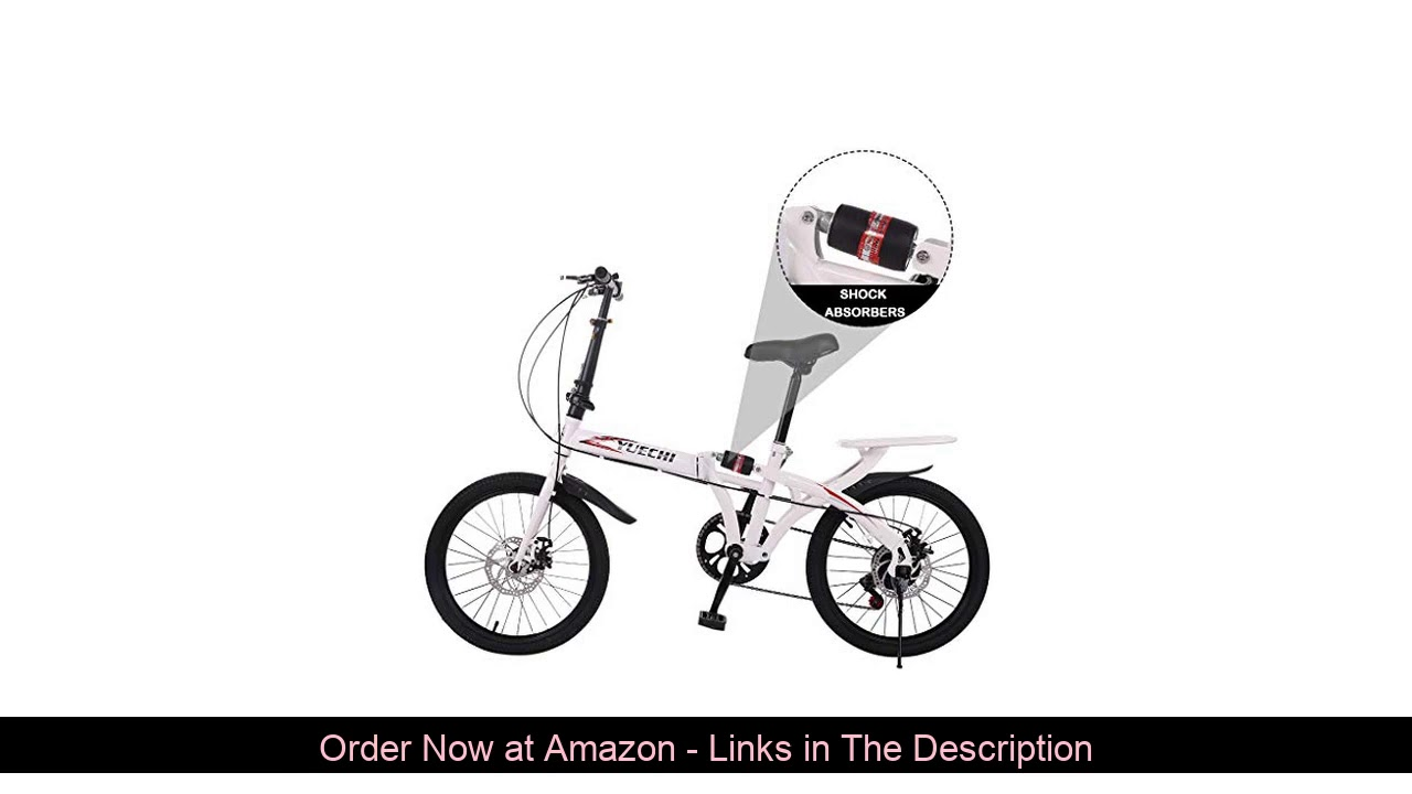 ✨ 20-inch Folding Bike, 7-Speed Cycling Commuter Foldable Bicycle for Adult Student,Lightweight Alu