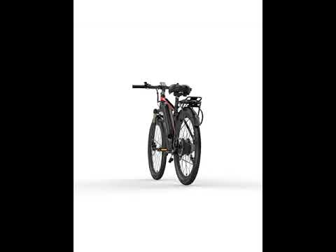400W 26 Inches Electric Bike Ebike with 48V 13Ah Lithium Battery Aluminum Alloy Frame Mountain Bike