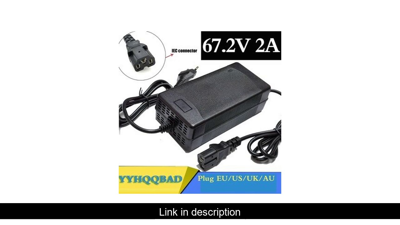 67.2V 2A Lithium Battery Charger For 60V Li-ion battery electric bike Charger with PC connector IEC