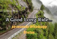 A Good Long Ride | 30 seconds Whatsapp Status videos | biker videos