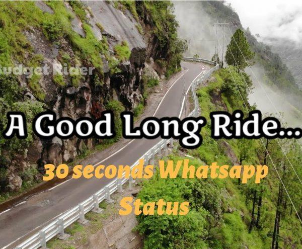 A Good Long Ride   30 seconds Whatsapp Status videos   biker videos