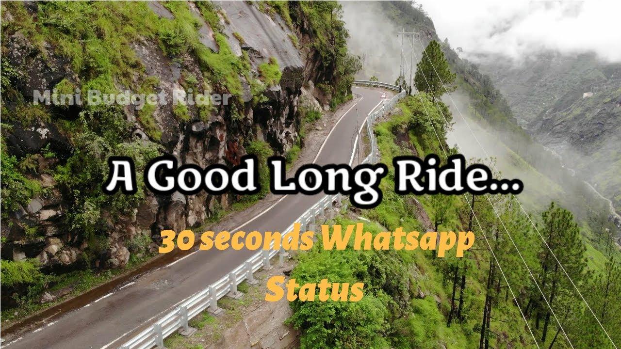 A Good Long Ride | 30 seconds Whatsapp Status videos | biker videos