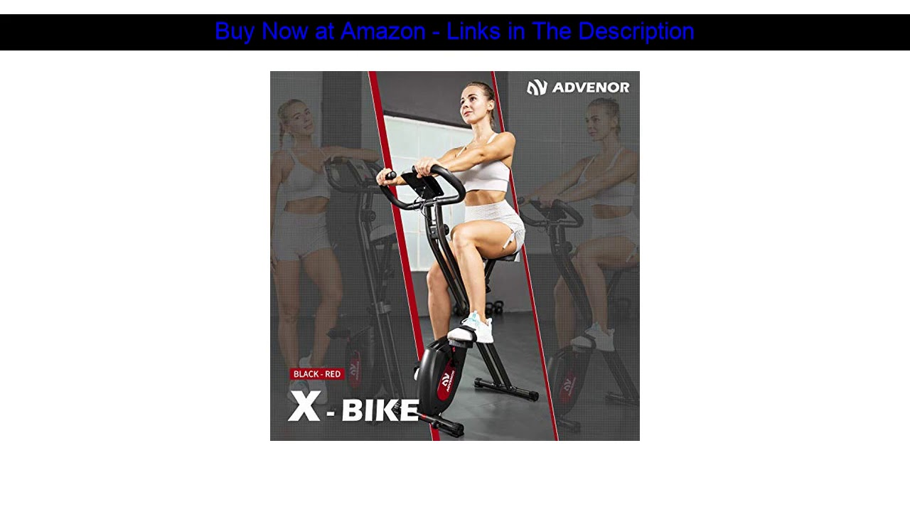 ▶️ ADVENOR Exercise Bike Magnetic Bike Folding Fitness Bike Cycle Workout Home Gym With LCD Monitor