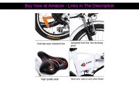 ❄️ ANCHEER Folding Electric Bike Ebike, 20'' Electric Bicycle with 36V 8Ah Removable Lithium-Ion Ba