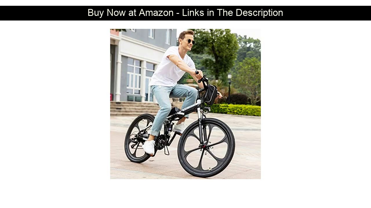 "❄️ ANCHEER Folding Electric Mountain Bike with 26"" Super Lightweight Magnesium Alloy 6 Spokes Integ"