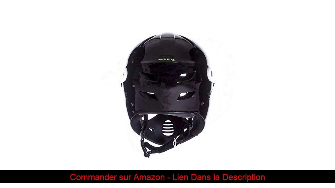 ⭐️ AWE Casque intégral de BMX - Couleur noire et verte - 54-58 cm