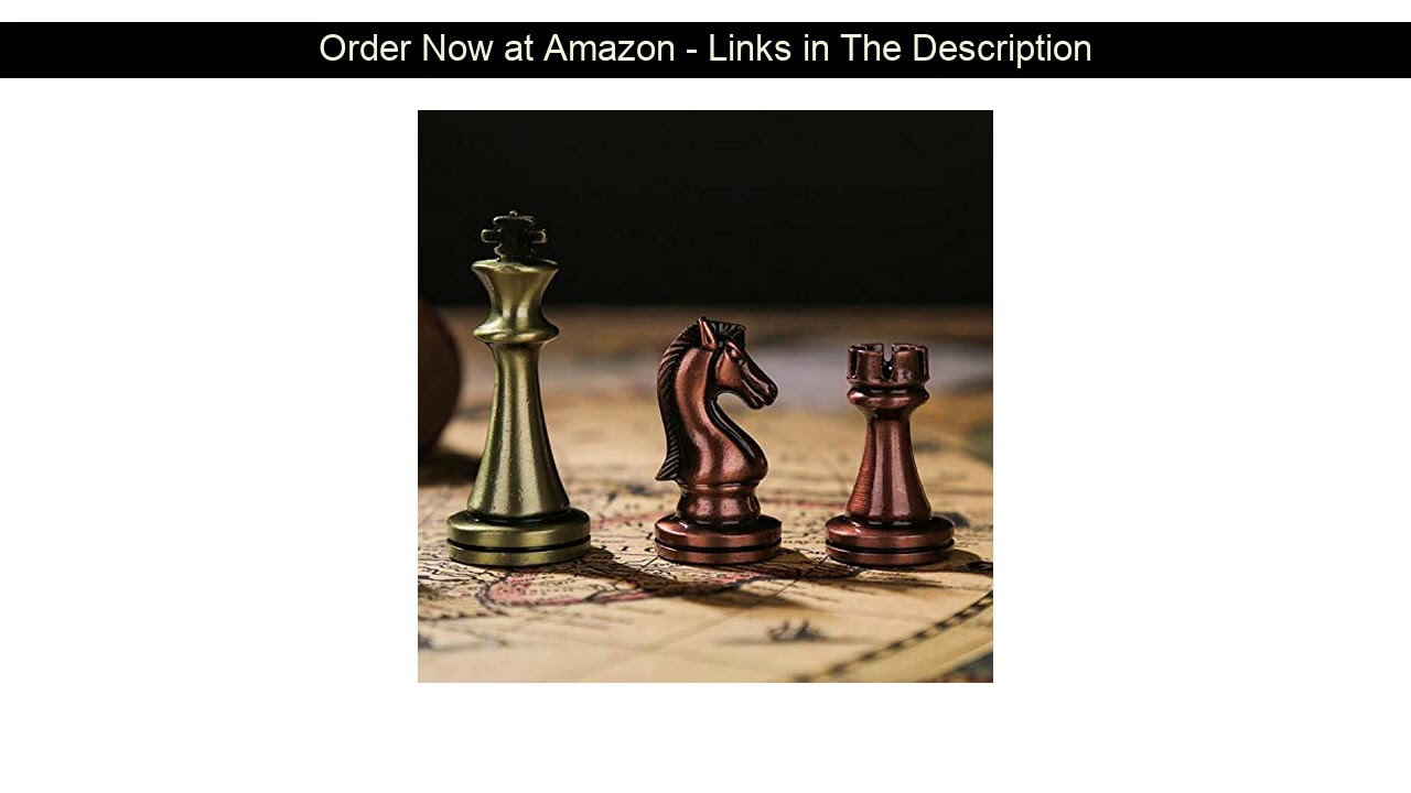 ▶️ Agirlgle International Chess Set with Folding Wooden Chess Board and Classic Handmade Standard P