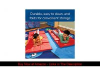 "❄️ Angeles Rest 2"" Nap Mat, 4 Section Folding Sleeping Mats for Kids/Toddlers Daycare, Bacteria-Res"