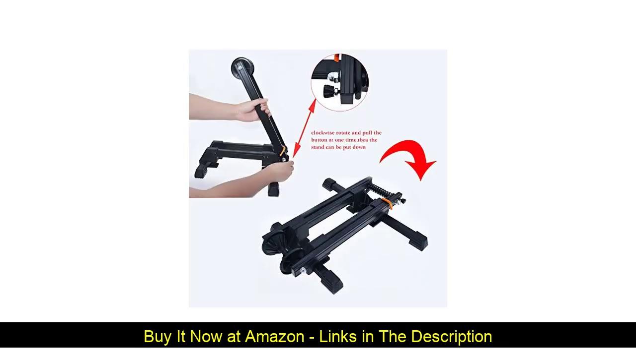 ☀️ Bike Folding Stand Floor Parking Rack Alloy Bicycle Holder Bikes Home Garage Indoor Storage Fit