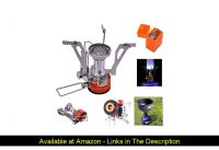 ☄️ Bisgear 12pcs Camping Cookware Stove Canister Stand Tripod Folding Spork Wine Opener Carabiner S