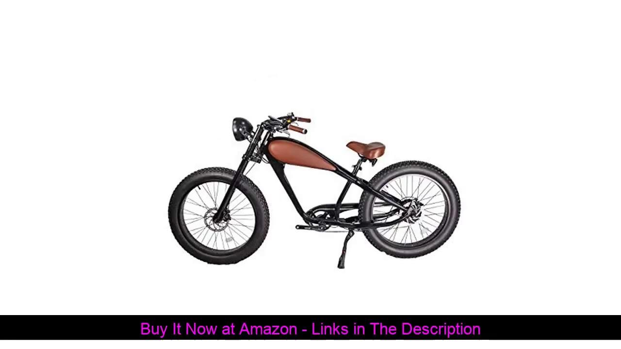 ☀️ CIVIBIKES 48V 750W Bafang Vintage Electric Bike Fat Tire Cheetah Beach Cruiser Electric Bike (Bl