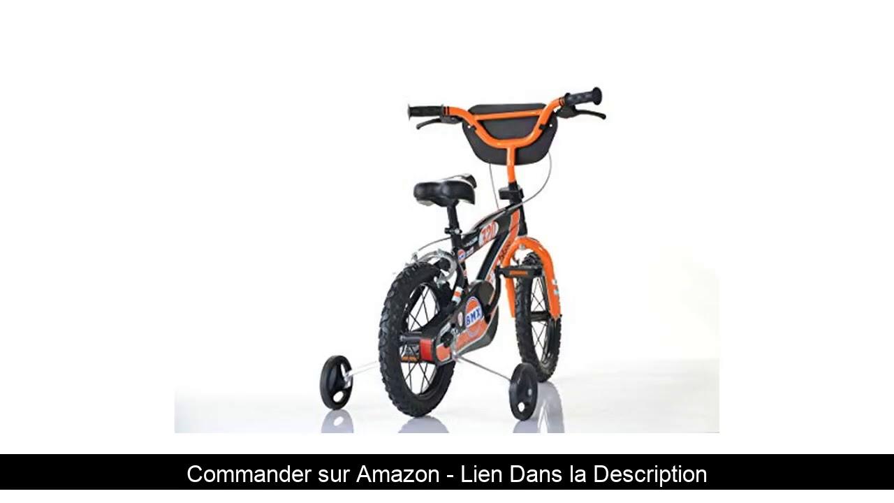 ⭐️ Dino Bikes- BMX Garçon Marque Dinobikes 16 Pouces de 5 à 8 Ans, 165XC, Noir