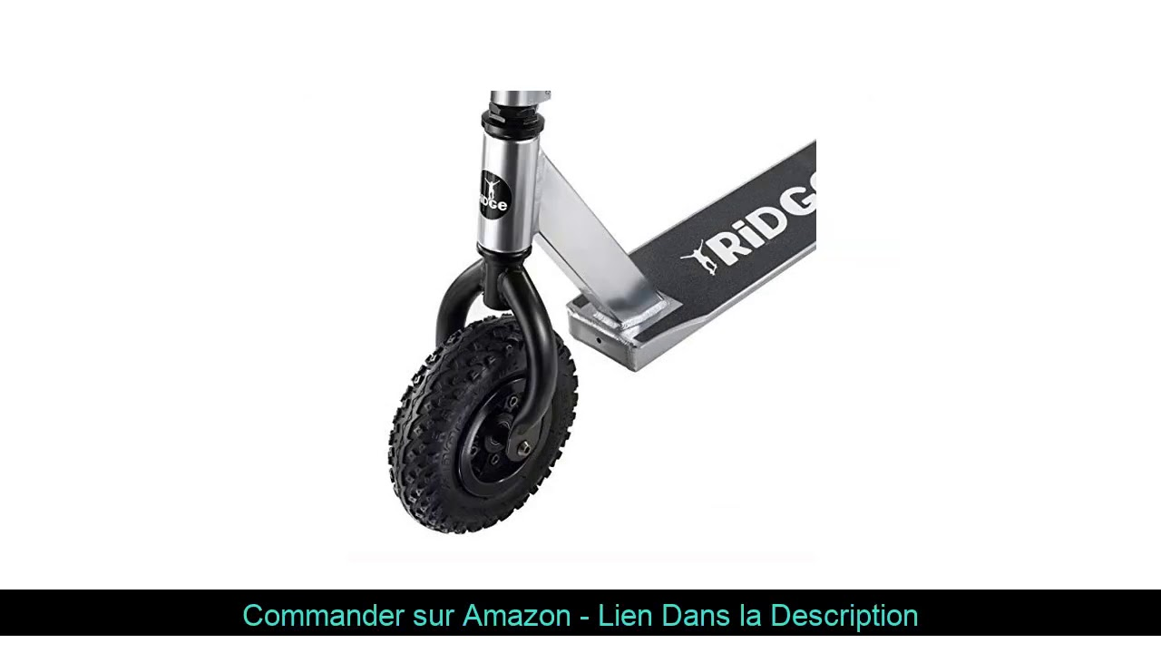 ⭐️ Dirt Scooter Trotinette de Ridge avec Pneus pneumatiques de 200mm d'air, fourches de Style BMX -