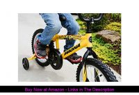 "☑️ Dynacraft Magna Major Damage Boys BMX Street/Dirt Bike 16"", Yellow/Black"