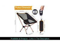 ✅ ESUP Camping Chair, Ultralight Portable Compact Folding Beach Chairs with Carry Bag for Outdoor C