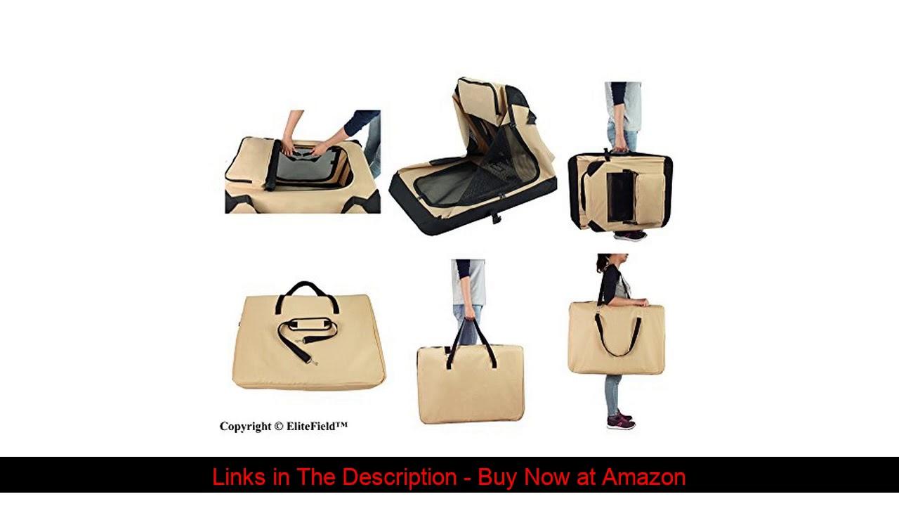 ✨ EliteField 3-Door Folding Soft Dog Crate, Indoor & Outdoor Pet Home, Multiple Sizes and Colors Av