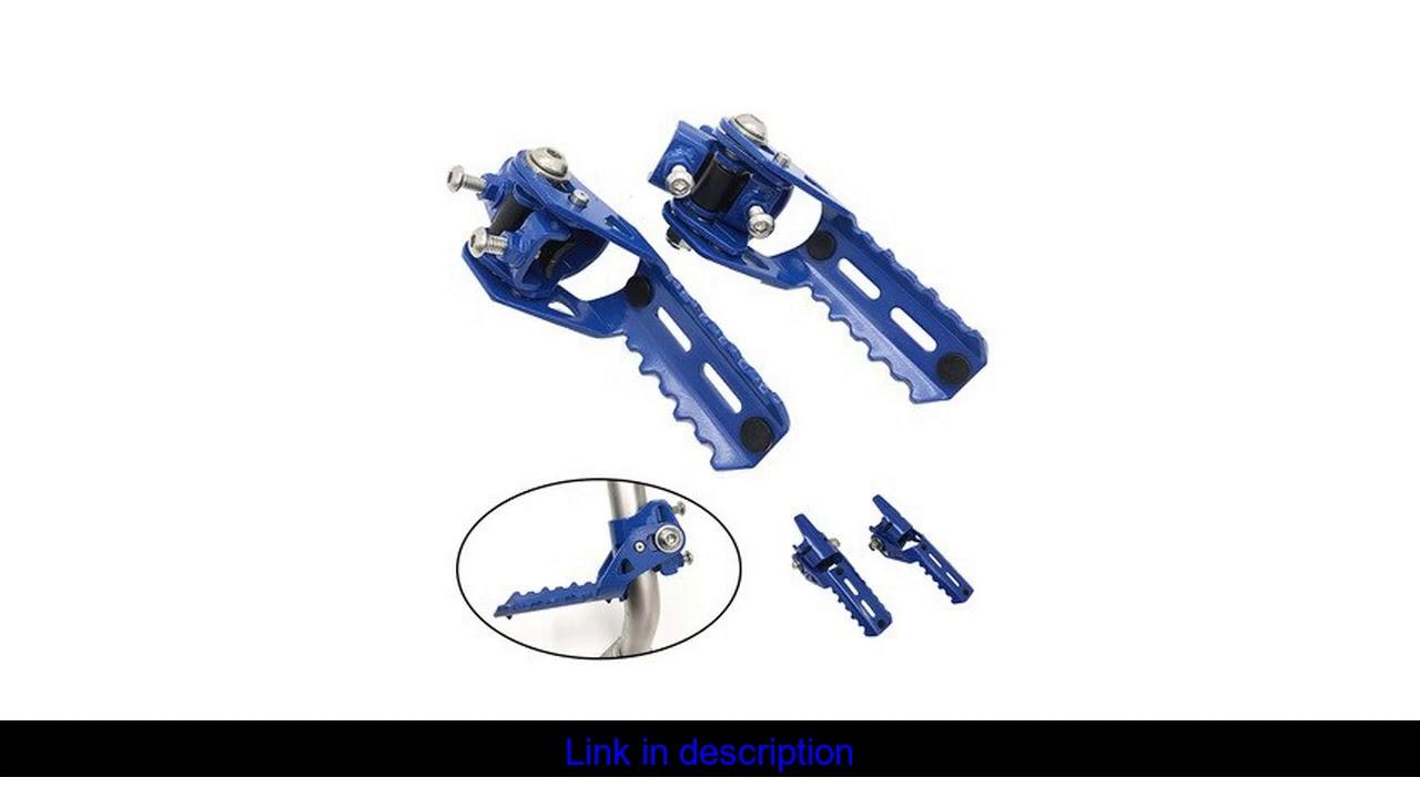 Estrada da motocicleta frente pé pegs folding apoio para os pés grampos 22-25mm para bmw r1250gs r