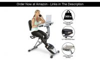 ⭐️ Exerpeutic ExerWorK 1000 Fully Adjustable Desk Folding Exercise Bike with Pulse