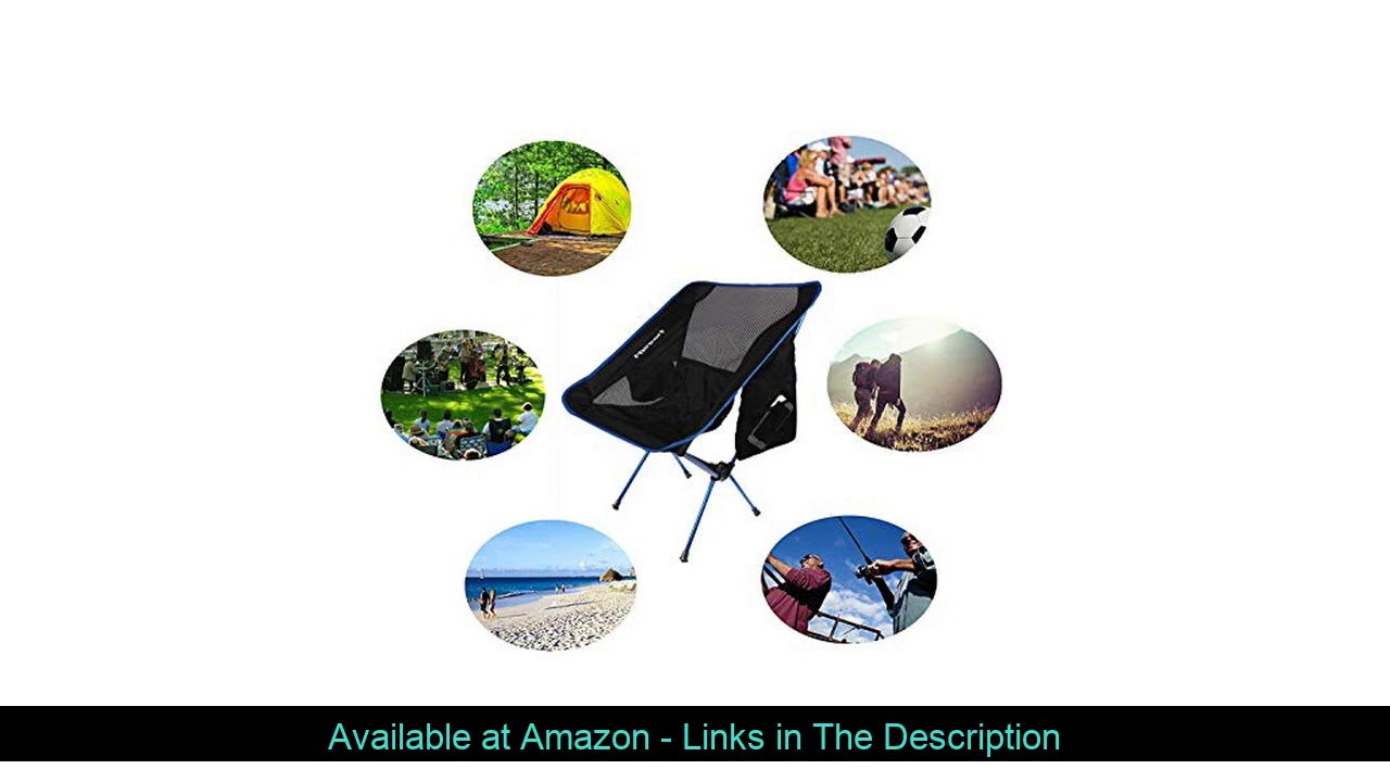 ☘️ FBSPORT Lightweight Folding Camping Backpack Chair Compact & Heavy Duty Portable Chairs for Hiki