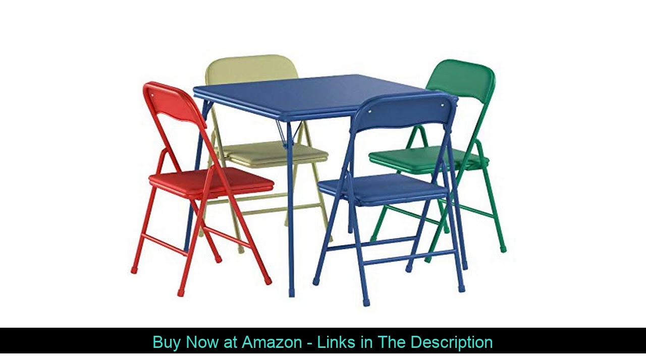 ✨ Flash Furniture Kids Colorful 5 Piece Folding Table and Chair Set
