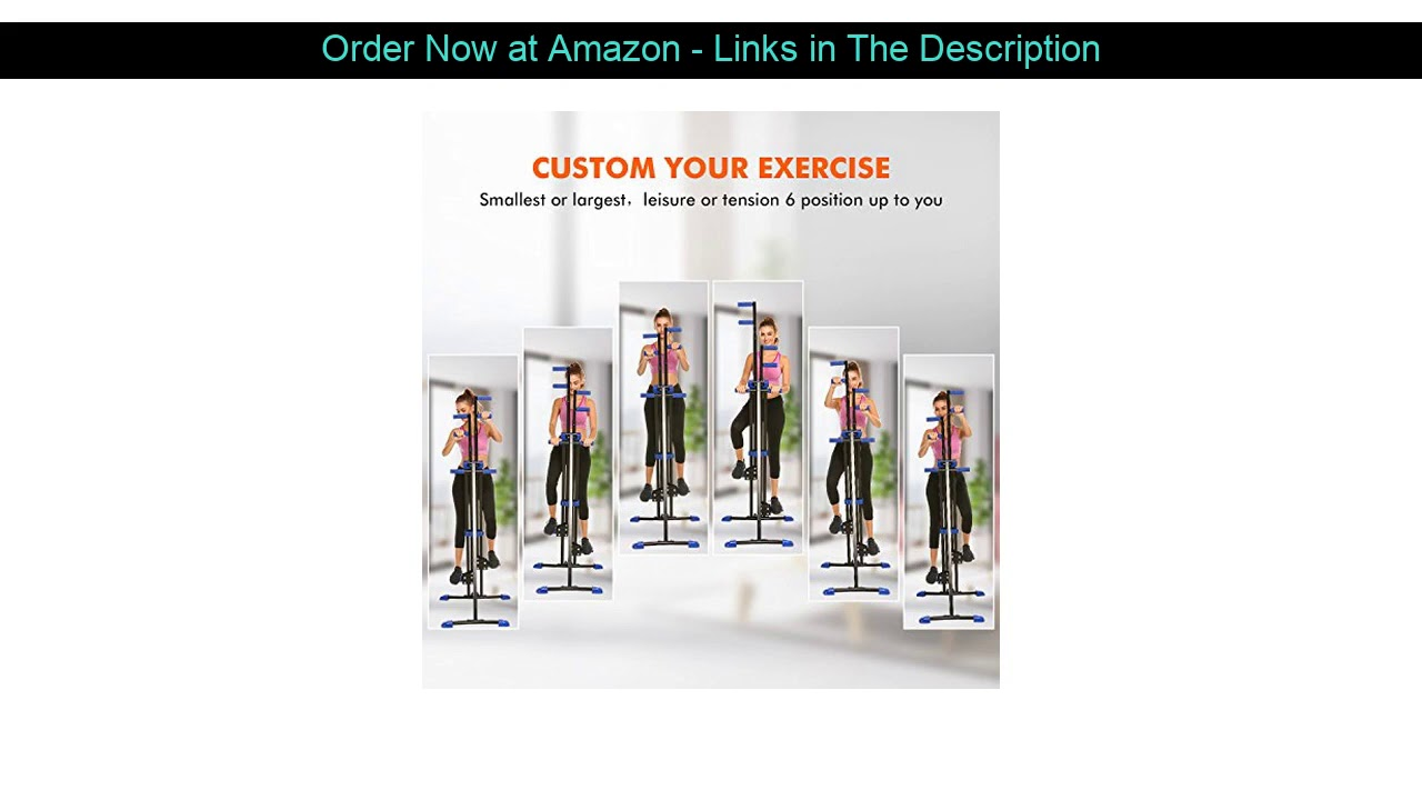 ❎ Flyerstoy Vertical Climber Cardio Exercise - Folding Exercise Climbing Machine,Total Body Workout