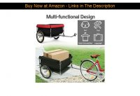 ✅ Goplus Cargo Bike Trailer, Folding Frame Quick Release 16'' Wheels Bicycle Cargo Trailer