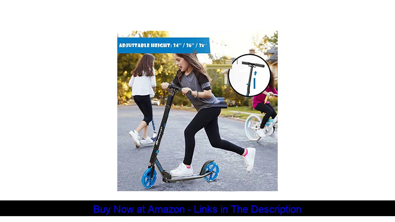 ▶️ Goplus Folding Kick Scooter for Kids and Teens, 2 Flash Wheels Scooter with 3-Level Adjustable H